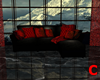 BLACK - RED SOFA