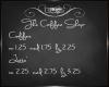 C~ Coffee Shop Menu