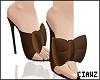 🌹 Bow Brown Heels