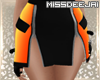 *MD*Racing Orange Skirt