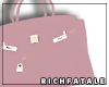 RF | Leather Tote -Mauve