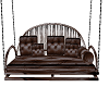 brown leather swing