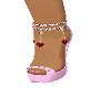 pink heart heels