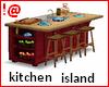 !@ Kitchen island red