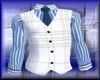 [PI]White Vest BlueShir