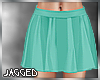 Mint pleated mini skirt