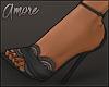 $ Lace Heels - Black