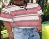 oversized tucked T-shirt