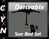 Derivable Sun Bed Set