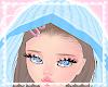 blue knit hood! ♡