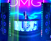 Animated Neon DJ Stage