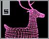 S. Lighted Deer Pink