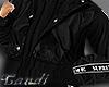 black preppy coat
