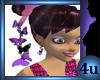 4u Purple Butterfly Earr