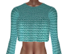 Val Teal Knit Crop