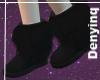 [DENY] Black Fuzzy Boots