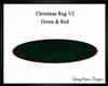 Christmas Fur Rug V2 Grn