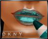 metalic teal lip gloss