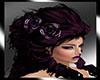 purple flower hair