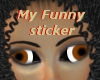 My funny sticker
