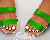 ṩ Brea Sandals Neon