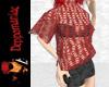 Blouson Knit/Shorts RED