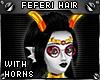 !T Feferi hair + horns