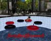 ~DD~Red&Blk Pool Floats