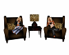 Leopard Coffee Chairs