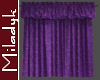 MLK Purple Closed Drapes