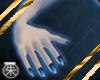 }T{ blue nails