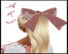 gingham lace bow