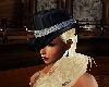 black ladies derby hat