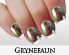 Green mettalic nails