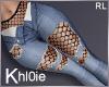 K Net  ripped blue jeans
