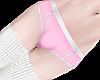 B! Pink Briefs Socks M