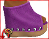 Wedge/Leather Lilac
