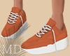 Simple Orange Shoes