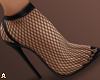 ! Fishnet Black Heels
