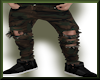 Ripped Camo Jeans Brown
