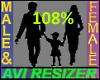 108% Tall