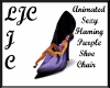 LJC Purple FlamShoeChair