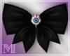 AM:: Eye Hair Bow Black