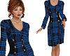 Royal Blue Classy Dress