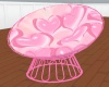 Pink Hearts cuddle chair