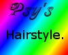 Psy- Light pink hair.