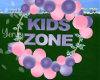 Kids Zone Balloons sign
