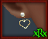 Heart Loop Earrings gld