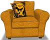 Golden Kissing Chair