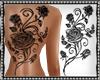 Custom Rose Back Tattoo